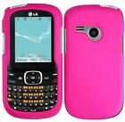Brand New Rubberized CUTE HOT PINK Snap on Case Cover for LG Saber UN200 500G