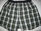 NWT Tommy Hilfiger Mens Size Small Cotton Blue Green Plaid Boxer Shorts S 28/30