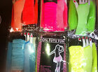 neon tutu set skirt legwarmers fishnet gloves pink blue green yellow orange