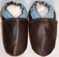Moxies BLACK baby shoes soft soled leather shoes sizes chaussons cuir T 18 a 35