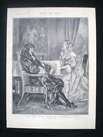 OLD PRINT - FRED TERRY & JULIA NEILSON / THEATRE ACTOR & ACTRESS NELL GWYN 1900