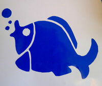 6 or 12 x Fish, Bathroom, Shower, Tile, Wall, Window Stickers/Decals/Transfers