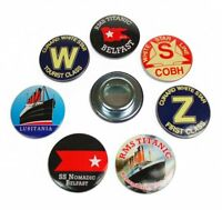 Titanic/Button/Bottle Openers/Set Of 7 Assorted/Belfast/White Star Line/New