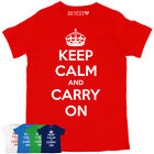 KEEP CALM AND CARRY ON CLASSIC MENS PRINTED T-SHIRT ALL COLOURS & SIZES