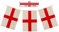 10 Packets of St George English 110 Flags Bunting 120 feet long 37m