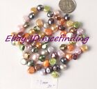 7-8mm freeform mixed color freshwater cultured pearl loose beads strand 15""
