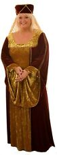 MEDIEVAL/LARP/HISTORICAL/SCA DELUXE MAIDEN FANCY DRESS COSTUME PLUS SIZES 18-40