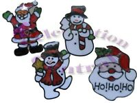 10 PACK of GEL CLINGS WINDOW STICKERS CHRISTMAS DECORATIONS