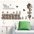 Love fence Home room Decor Removable Wall Sticker/Decal/Decoration
