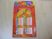88 PIECE KIDS CHILDRENS BIRTHDAY PARTY CAKE CANDLE SET - 64 CANDLES & 24 HOLDERS