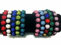 New Shamballa Crystal Disco Ball Bracelet 10mmx9 Ball Friendship Shamballa Beads