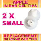 2x Silicone Replacement Small Gel Tips for Apple In Ear Buds Earphone Headphone