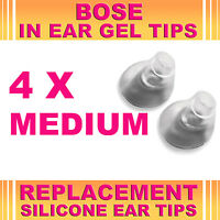 4x Replacement Medium Ear Gel Tips for Bose Triport Earphone Earbud In-Ear Canal