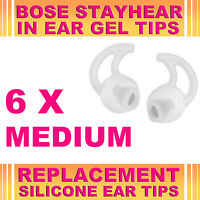 6x Silicone Replacement Medium Ear Gel Tips for Bose StayHear Earphone Headphone