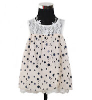 New Baby Girls White and Cream Party Dress 9-12 Months
