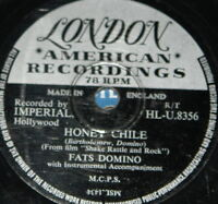 FATS DOMINO ~ HONEY CHILE ~ RARE UK 78 RPM RECORD ~ ROCK 'N' ROLL ROCKABILLY