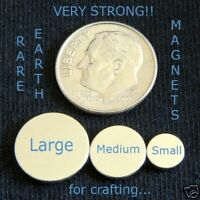 """100 QTY - LARGE Rare Earth Neodymium Magnets 1/2"""" x 1/16"""" Inch Disc Bottle Caps"""