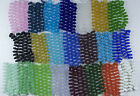 Strand of Frosted Matte FREEFORM BUTTON Beach Sea Glass Beads YOU PICK 22 COLORS