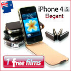 Premium Quality Elegant iPhone 4 4G 4S Leather Flip Case Cover mbs A092