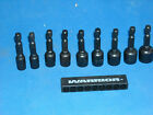 9 pc magnetic nut driver set sae 1/4 thur 1/2 with good strong magnets