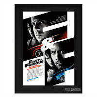 FAST AND FURIOUS Framed Film Movie Poster A4 Black Frame