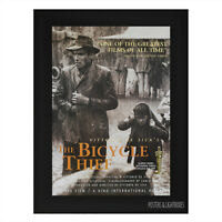 THE BICYCLE THIEF Framed Film Movie Poster A4 Black Frame