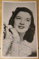 PEGGY RYAN ~ RARE SIGNED B&W 1940s VINTAGE POSTCARD AUTOGRAPH ~ HAWAII FIVE-O