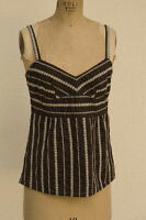 Ann Taylor Loft Petites Baby Doll Cami Embroidered 4 Petite