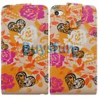 Flower Heart Flip Leather Case Cover for Apple iPod Touch 4 4G 4TH +Film