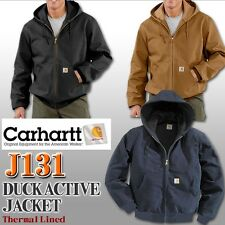 CARHARTT J131 DUCK ACTIVE JACKET THERMAL LINED, MULTIPLE COLORS, ALL SIZES