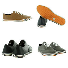 NEW MENS FLATS SPORTS LACE UP CASUAL PLIMSOLES TRAINER BOOTS UK SIZE SHOES