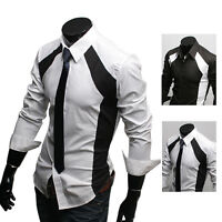 New Mens Awesome Fashion Slim Fit Formal Casual MSS Shirt 3 Sizes Must Have!