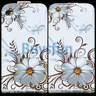 Stylish Flower Flip Leather Cover Case For Apple iPod Touch 4 4G 4TH +Film