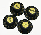 4x Gold Guitar Witch Hat Knobs Fits Les Paul Epiphone SG