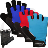 Cycling Gloves Cycle MTB Bike Gel Padded Velcro Strap Size - S - M - L - XL