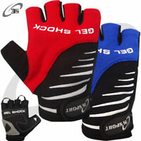 Gel Shock Padded Cycling Gloves MTB Bike Gloves Velcro Strap Size S - M - L - XL