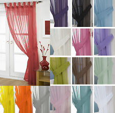 Voile Tab Top Curtain Panel – FREE Tieback - White Cream All Colours – Net Voile