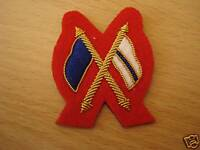 Cross Flags, Sleeve Badge, Signaller, Mess Dress, Army, Red, Gold, Military, New