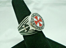 Knights Templar Soldiers of Christ Masonic Ring Red Seal