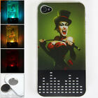 3D Vampire Burlesque Led Sense Flashing lights Hard Case Cover for iPhone 4-4S