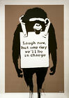 Banksy Laugh Now Monkey Home Decor Canvas Print A4 Size (210 x 297mm)