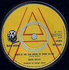 (DAVID BAILEY -When is the Sun Going to Shine on me/ Last Night, Saturday )-F5-7