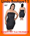B87 Womens Black Size 14 Evening Cocktail Cub Wear Party Layer Stretch Dress