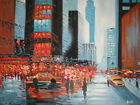 new york manhaatten street oil painting canvas modern art cityscape original usa