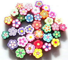 GORGEOUS FIMO FLOWER BEADS - YOU GET 15 - BUT YOU CHOOSE WHICH TYPE