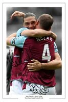ANDY CARROLL AND KEVIN NOLAN WEST HAM SIGNED PHOTO PRINT AUTOGRAPH SOCCER
