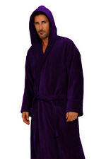 Purple Cotton TerryCloth Hooded  Women & Men Robe, Embroidery available
