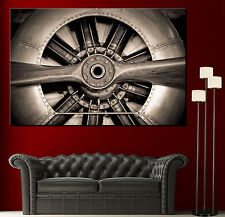 Wall Art Propeller Airplane Engine Canvas Print Picture Black White Prints