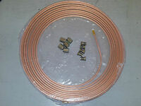 "**FORD** Copper Brake Pipe 3/16"" X 25 FT SOFT 22G *10 FREE UNIONS*"