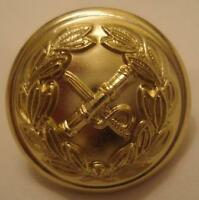 Generals Button, Military, 22L, Ligne, 14mm, Small, Army, Uniform, Gold, New